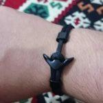 Fekete Simple Horgony Karkötő