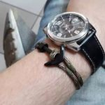 Fekete Horgony Karkötő Fekete Horgonnyal